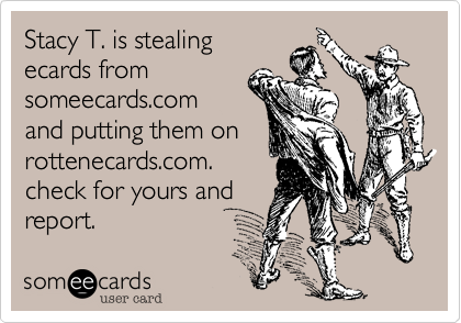 Stacy T. is stealing