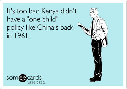 It's too bad Kenya didn't