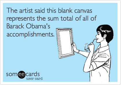 The artist said this blank canvas 