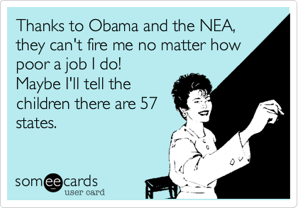Thanks to Obama and the NEA,