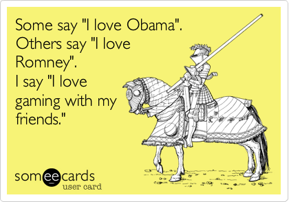 "Some say ""I love Obama"".