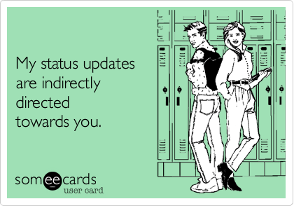 My status updates