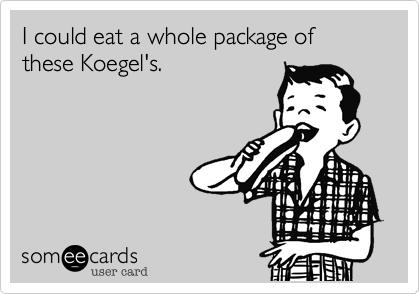 I could eat a whole package of these Koegel's.