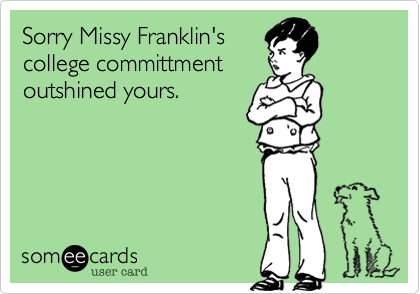 Sorry Missy Franklin's