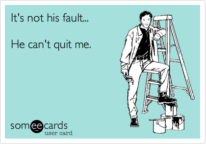 It's not his fault...