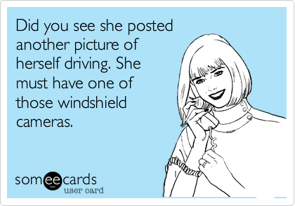 Did you see she posted