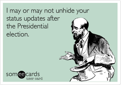 I may or may not unhide your status updates after