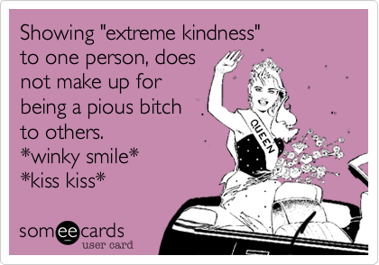 "Showing ""extreme kindness""