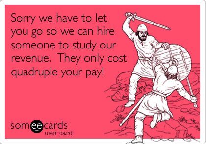 Sorry we have to let