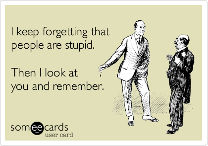 I keep forgetting that