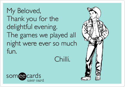 My Beloved,
