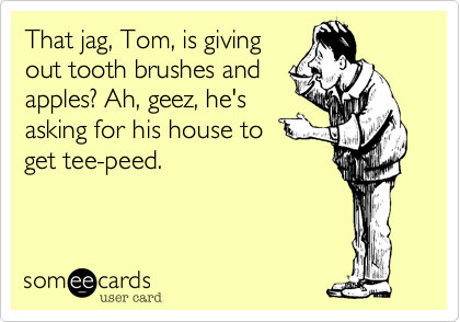 That jag, Tom, is giving