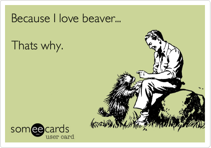 Because I love beaver...Thats why.
