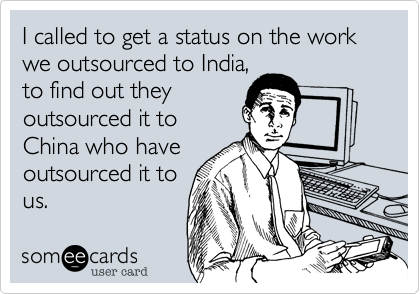I called to get a status on the work