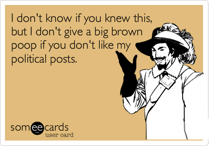 I don't know if you knew this, 
