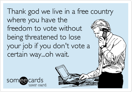 Thank god we live in a free country where you have the