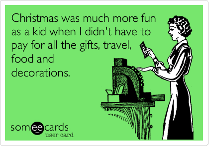 Christmas was much more fun