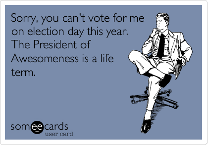 Sorry, you can't vote for me