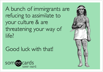 A bunch of immirgrants are