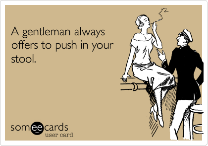 A gentleman always