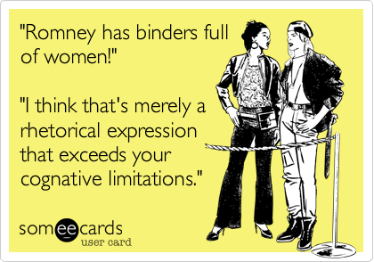 """Romney has binders full