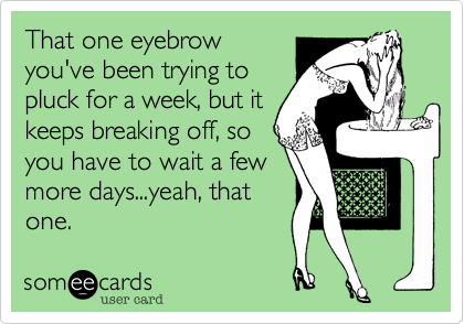 That one eyebrow