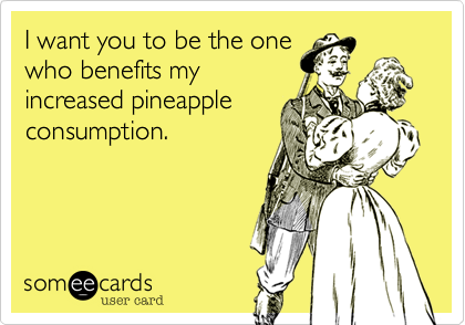I want you to be the one