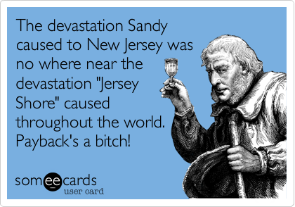 The devastation Sandy
