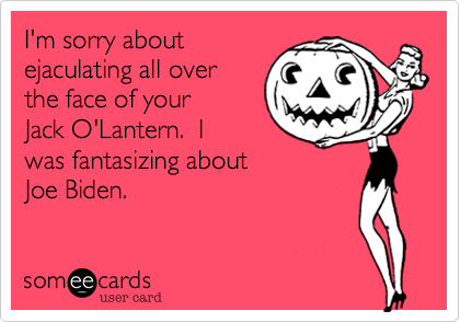 I'm sorry about 