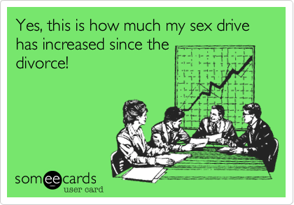 Yes, this is how much my sex drive has increased since the