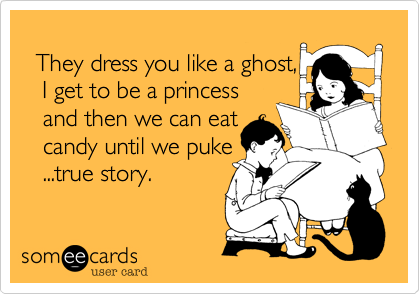 They dress you like a ghost,