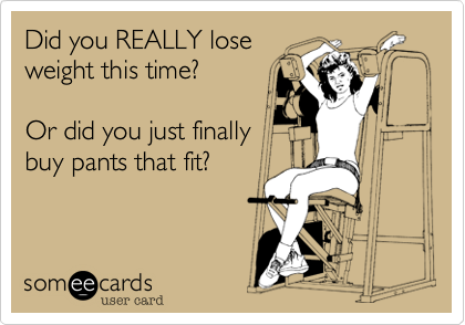 Did you REALLY lose
