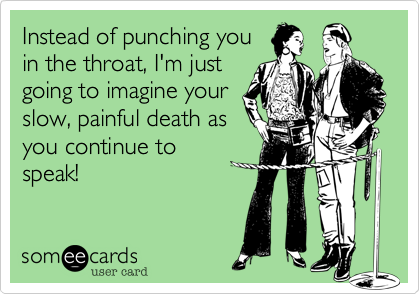 Instead of punching you