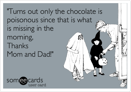 """Turns out only the chocolate is poisonous since that is what