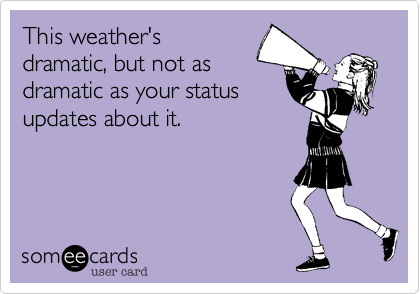This weather's
