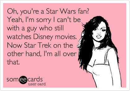Oh, you're a Star Wars fan?
