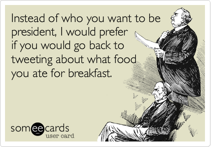 Instead of who you want to be
