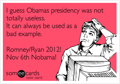I guess Obamas presidency was not