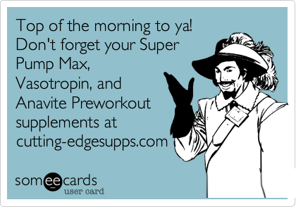 Top of the morning to ya!