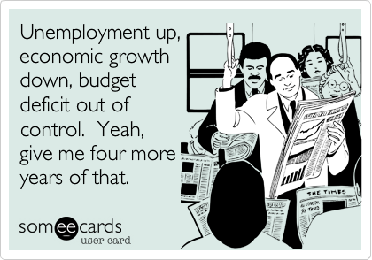 Unemployment up,