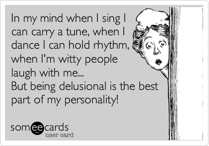 In my mind when I sing I