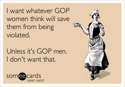 I want whatever GOP