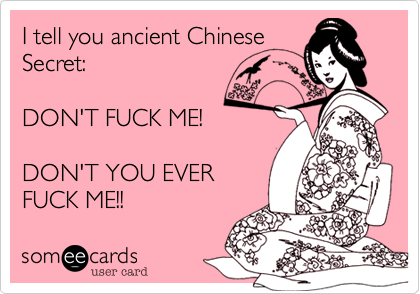 I tell you ancient Chinese