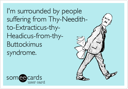 I'm surrounded by people
