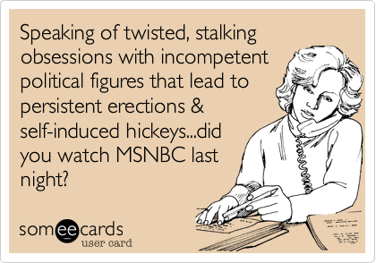 Speaking of twisted, stalking