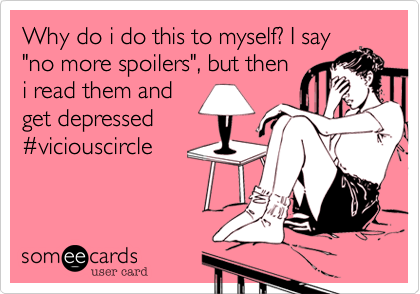 Why do i do this to myself? I say