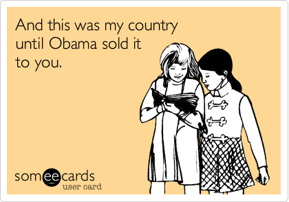 And this was my country 