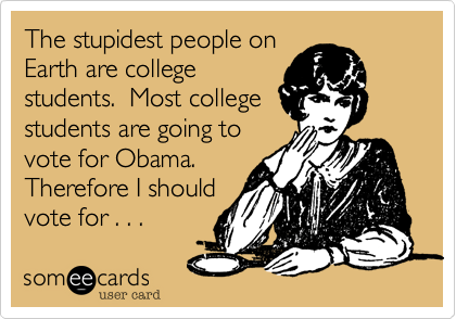 The stupidest people on