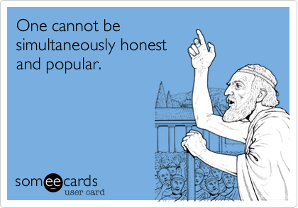 One cannot be 