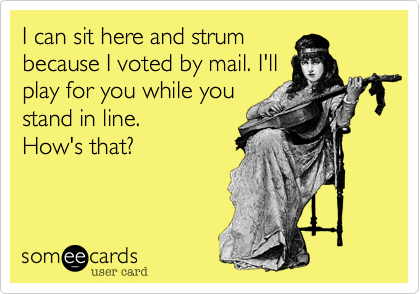 I can sit here and strum